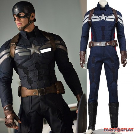 Captain America 2 Steve Rogers Cosplay Costume Deluxe Version