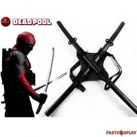 Deadpool Backpack Swords Set Props Cosplay