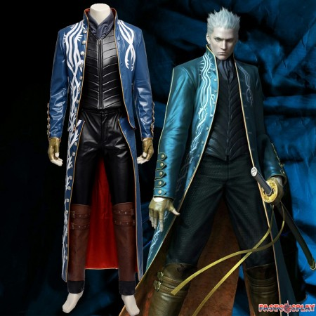 Devil May Cry III 3 Virgil Cosplay Costume - Deluxe Version