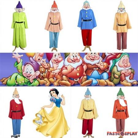 Disney Snow White Seven Dwarfs Cosplay Costumes