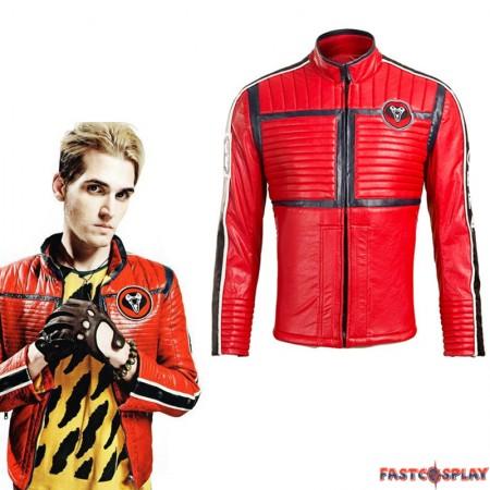 Fashion My Chemical Romance Bass Mikey Way Cosplay Costume Punk Jacket
