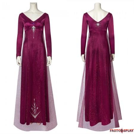 Frozen 2 Elsa Cosplay Dress Purple Dress