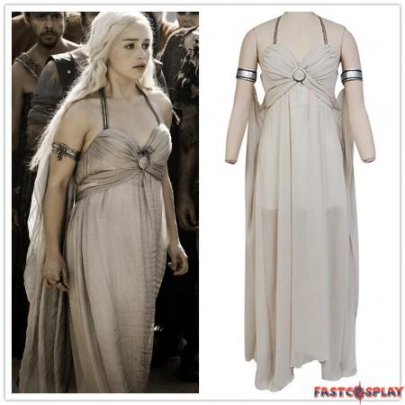 Game of Thrones Daenerys Targaryen Grey Dress Cosplay Costumes
