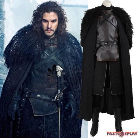 Game of Thrones Jon Snow Cosplay Costume Deluxe Version