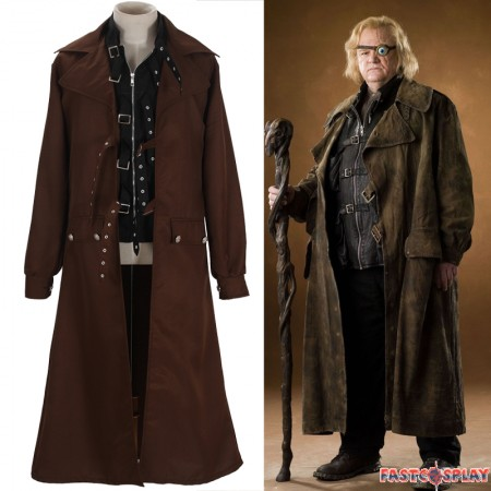 Harry Potter Alastor Moody Mad-Eye Trench Coat Cosplay Costume