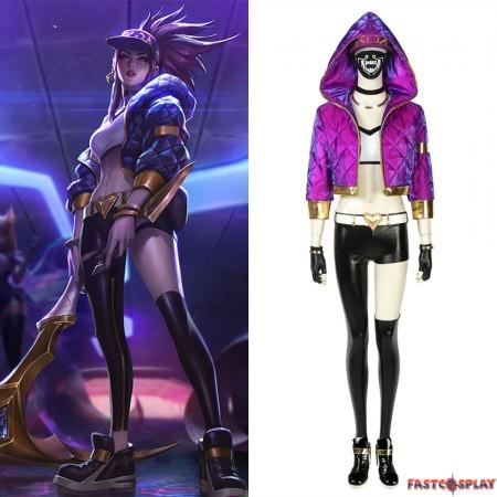 League of Legends LOL KDA Akali Cosplay Costume