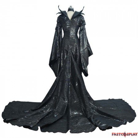 Disney Maleficent Black Witch Angelina Jolie Cosplay Costume