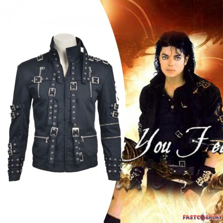 Michael Jackson Men's Black Jacket Cosplay Costume