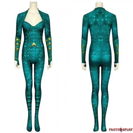 Movie Aquaman Mera 3D Cosplay Jumpsuit
