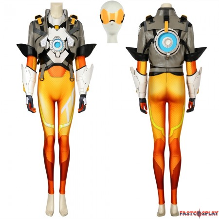 Overwatch 2 Tracer Cosplay Costume Deluxe Full Set