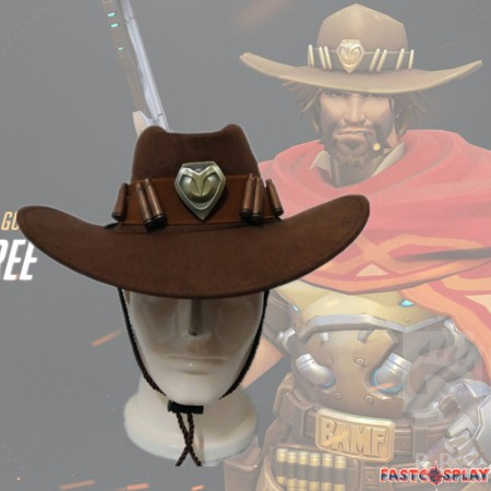 Overwatch McCree Cap Cosplay Hat Props
