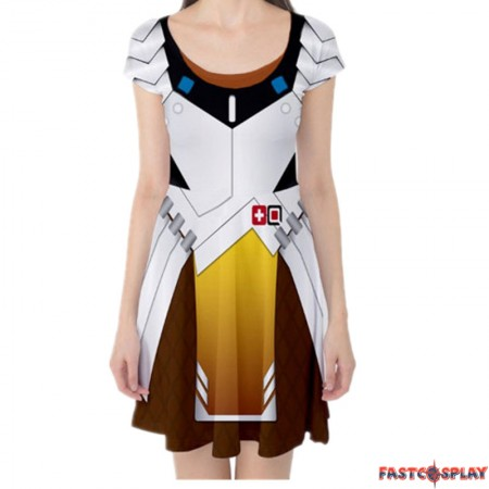 Overwatch Mercy Dress Cosplay Costume