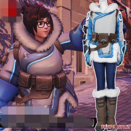 Overwatch Zhou Meiling MEI Cosplay Deluxe Costumes