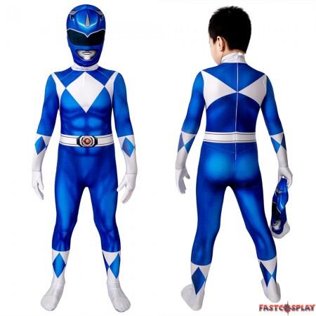 Power Rangers Billy Blue Ranger Kids 3D Jumpsuit