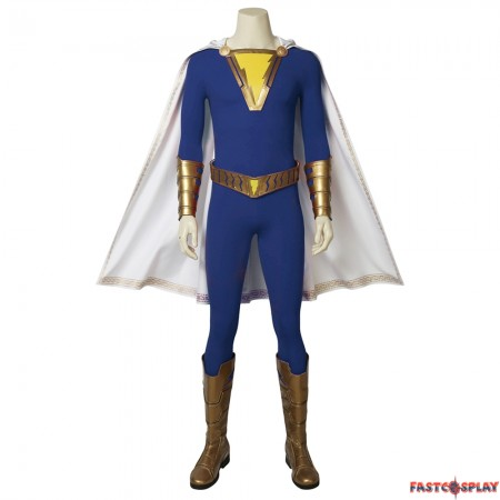 Shazam Freddy Freeman Cosplay Costume Blue