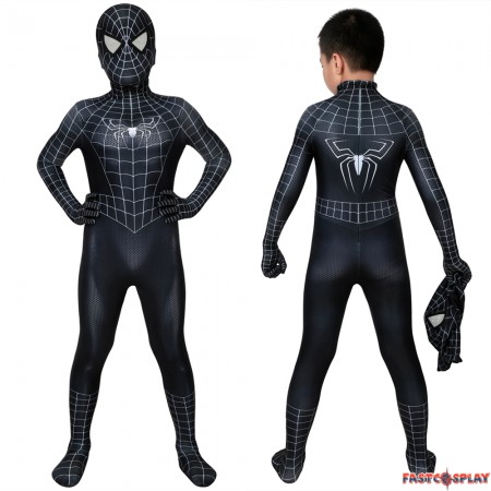 Spider-Man 3 Eddie Brock Venom Kids 3D Jumpsuit