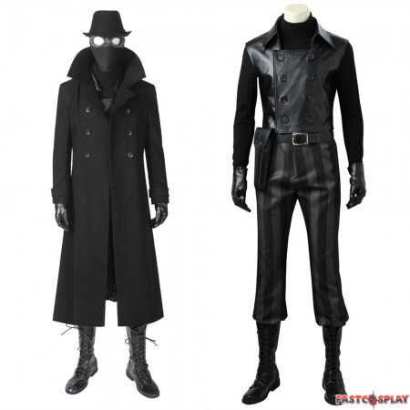 Spider-Man into the Spider-Verse Spider Man Noir Cosplay Costume