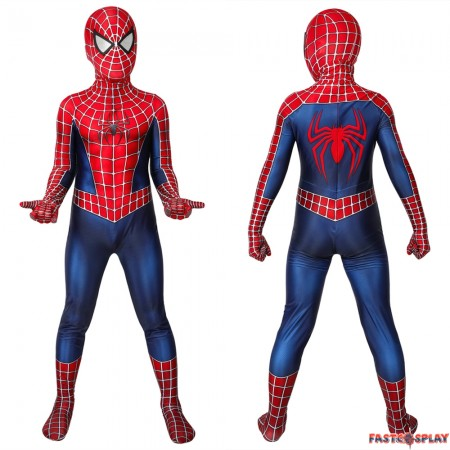 Spider-Man Peter Parker Kids 3D Jumpsuit Zentai