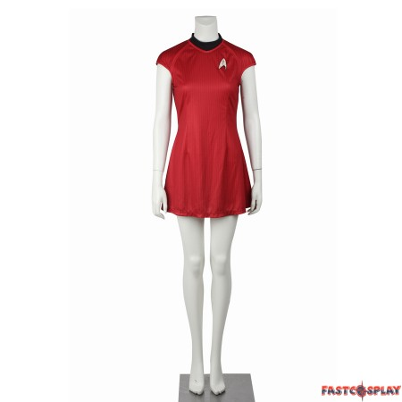 Star Trek Into Darkness Nyota Uhura Red Dress Uniform Costume