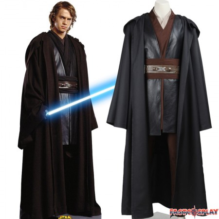 Star Wars II Attack of the Clones Anakin Skywalker Cosplay Costume