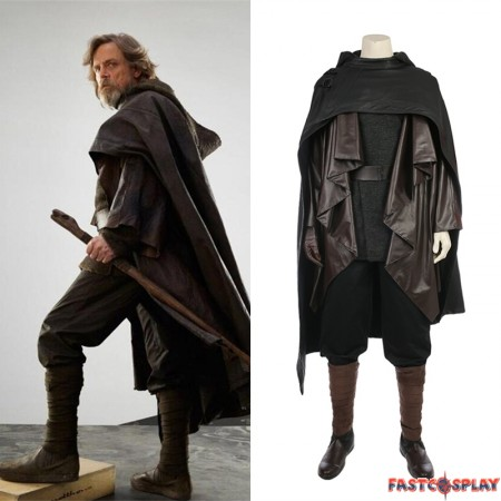 Star Wars The Last Jedi Luke Skywalker Cosplay Costume Deluxe Outfit
