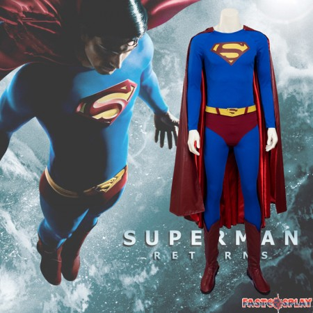 Superman Returns Cosplay Superman Cosplay Costume - Deluxe Version