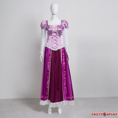 Disney Tangled Rapunzel Princess Dress Cosplay Costume