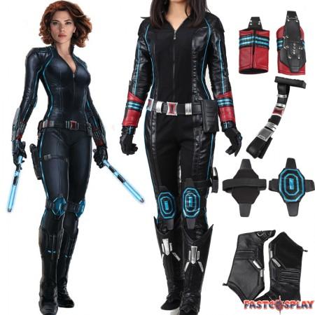 The Avengers 2 Age of Ultron Black Widow Natasha Romanoff Cosplay Costume