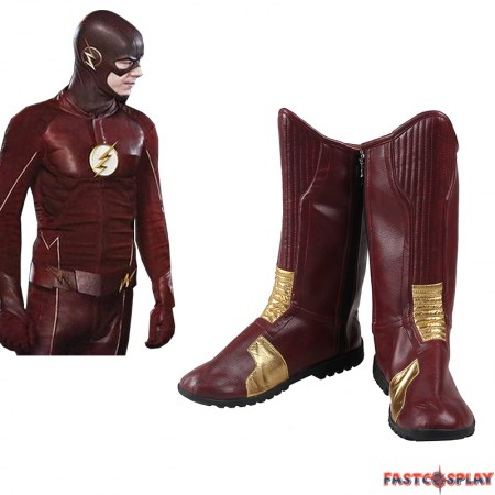 The Flash Barry Allen Shoes Cosplay Boots