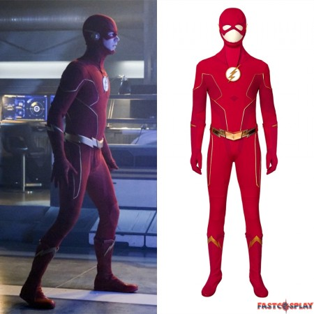 The Flash Season 6 Barry Allen Costume Cosplay Outfit