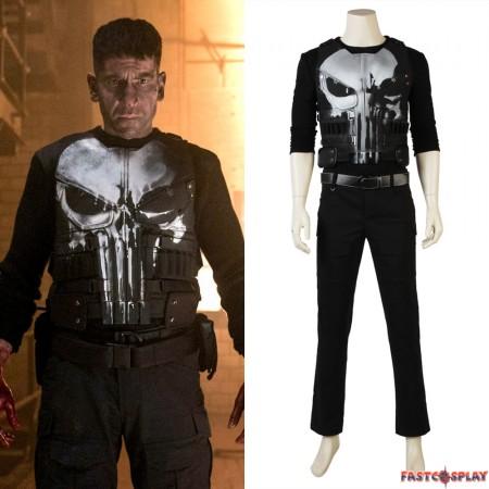 The Punisher Frank Punisher Cosplay Costume