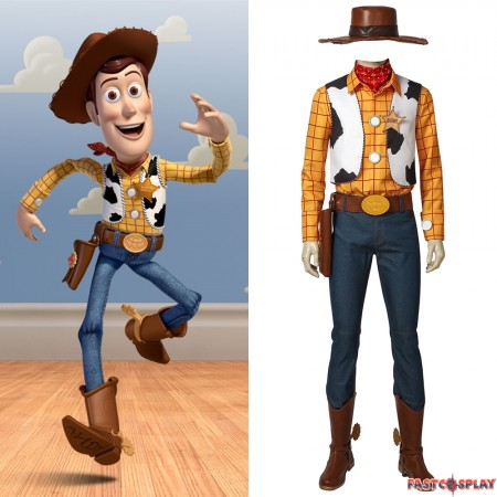 Toy Story Woody Cosplay Costume Full Set