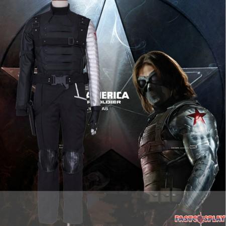 Winter Soldier Bucky Barnes Cosplay Deluxe Costume