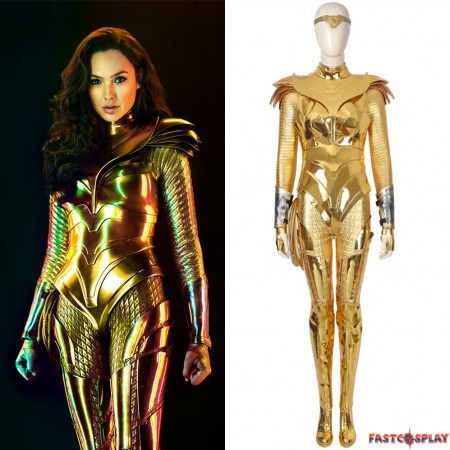Wonder Woman 1984 Diana Prince Cosplay Costume Golden Suit