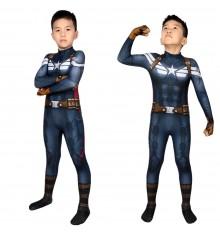 Captain America 2: The Winter Soldier Steve Rogers Kids 3D Jumpsuit