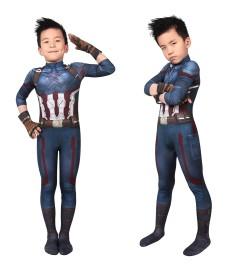 Avengers Infinity War Captain America Kids 3D Jumpsuit