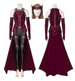 TV WandaVision Scarlet Witch Wanda Cosplay Costume