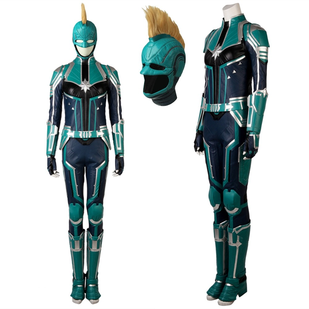 2019 Captain Marvel Carol Danvers Cosplay Costume