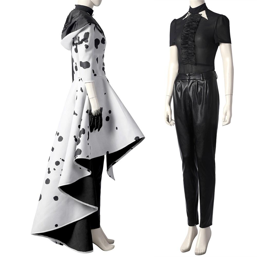 2021 Cruella de Vil Cruella Cosplay Costume