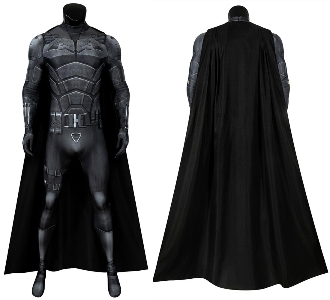 2021 Movie The Batman Bruce Wayne Robert Pattinson 3D Jumpsuit
