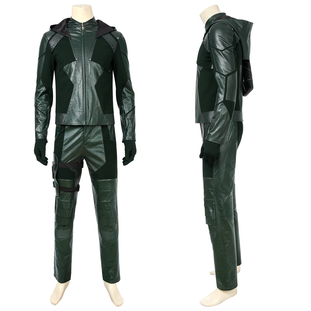 Arrow Season 8 Oliver Queen Green Arrow Cosplay Costume