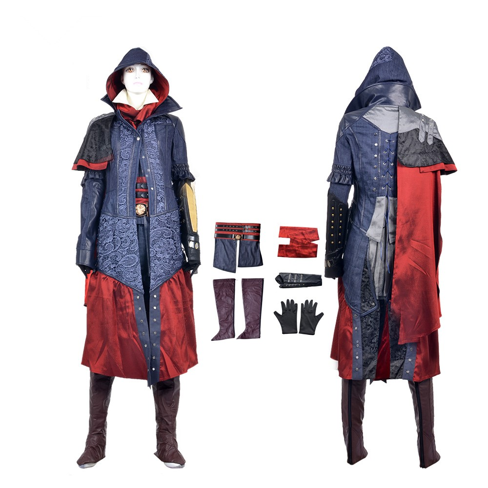 Assassin's Creed Syndicate Evie Frye Cosplay Costumes Deluxe