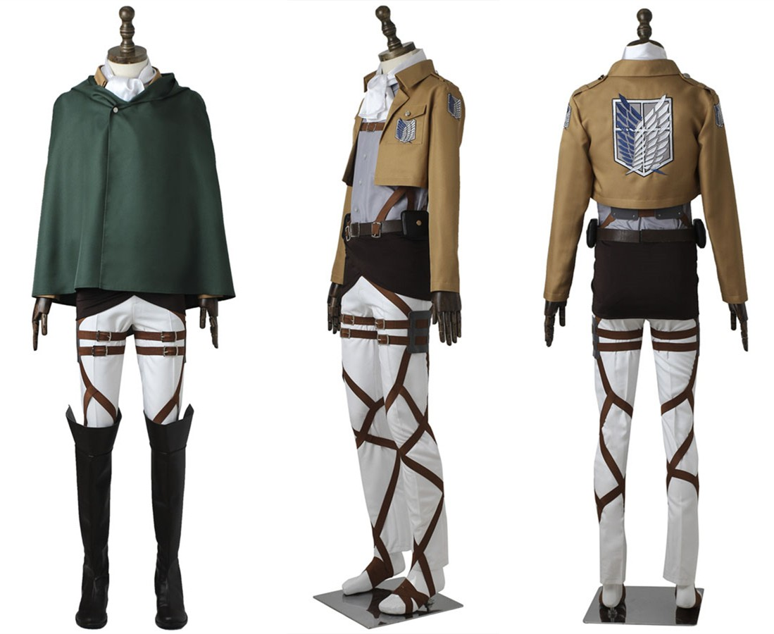 Attack on Titan Levi Rivaille Rival Ackerman Cosplay Costume