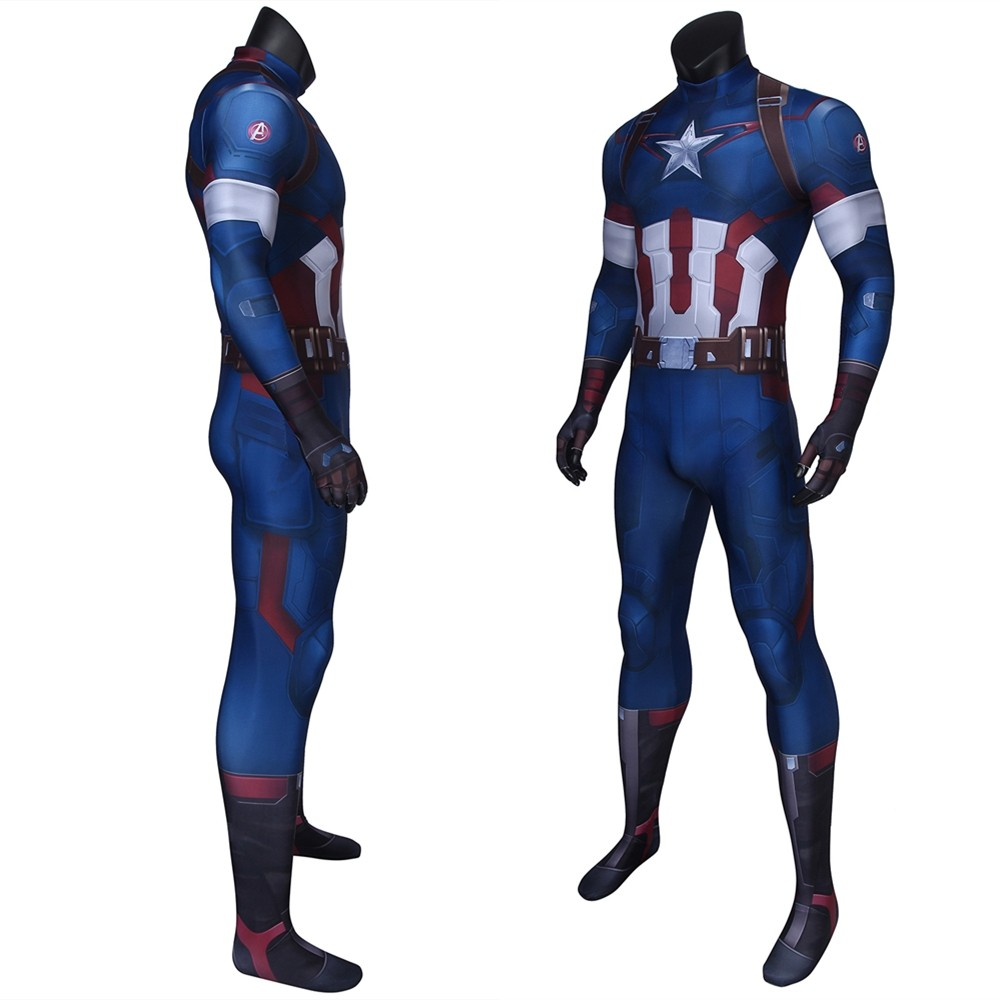 Avengers: Age of Ultron Captain America 3D Jumpsuit