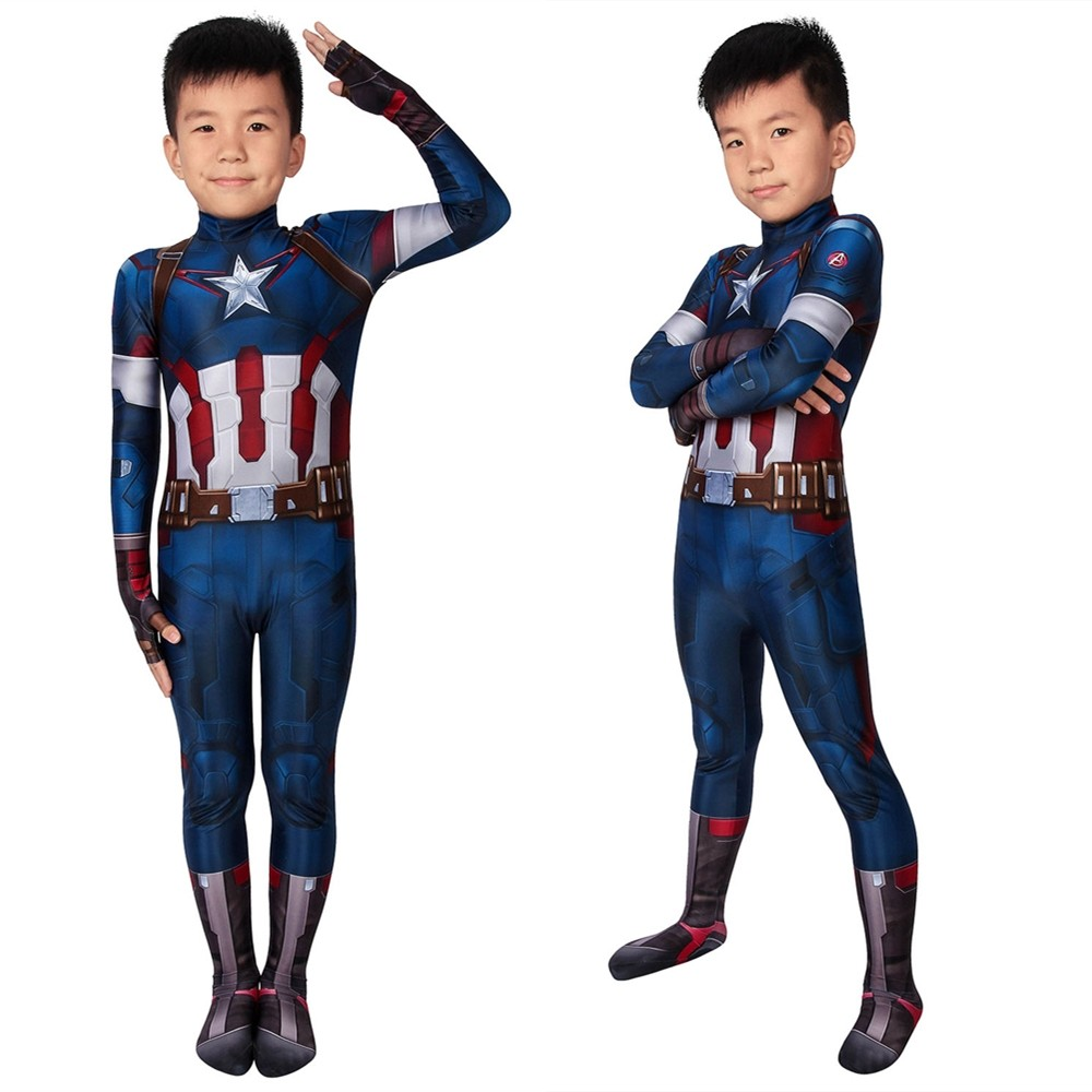 Avengers Age of Ultron Captain America Kids 3D Jumpsuit