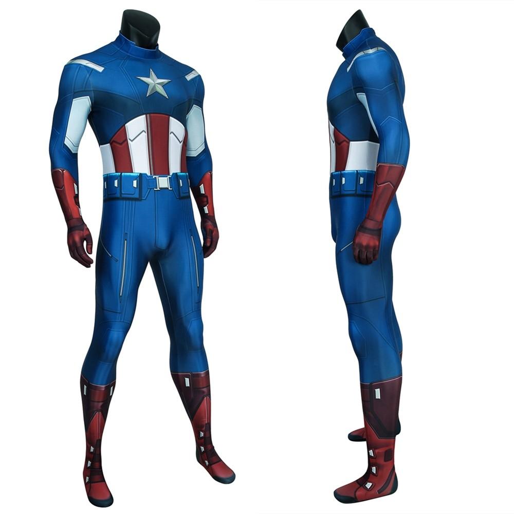 Avengers Captain America 3D Zentai Jumpsuit