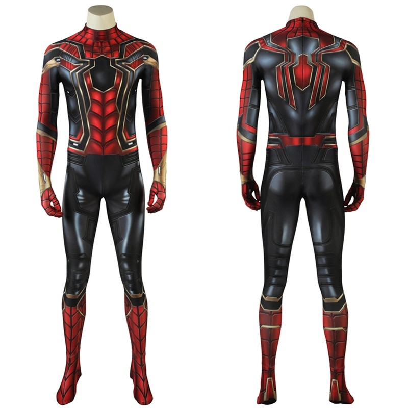 Avengers Infinity War Spider Man Cosplay Costume 3D Printed Jumpsuit