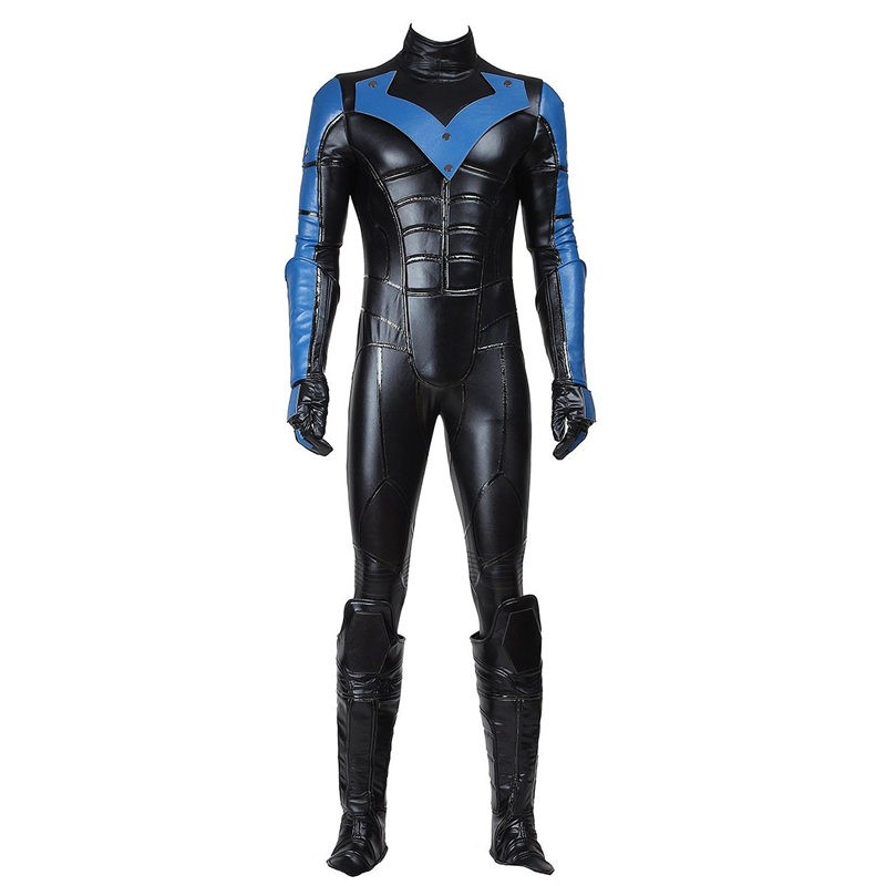 Arkham City Nightwing Cosplay Costumes Outfit