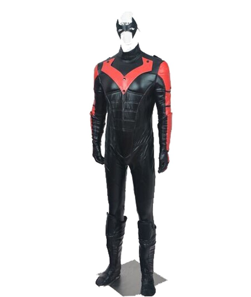 Batman Arkham City Red Nightwing Richard John Dick Grayson Cosplay Costume