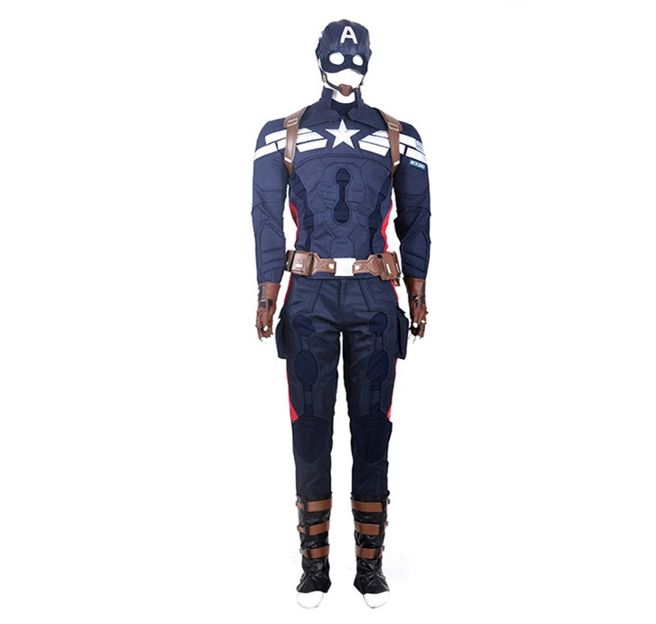 Captain America 2 Steve Rogers Cosplay Costume - Deluxe Version